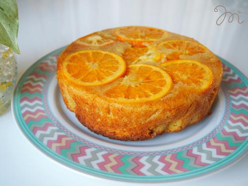オレンジのケーキ